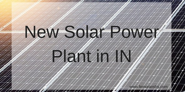 New Solar Power Plant in Indiana