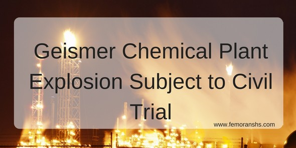 Geismer Chemical Plant Explosion