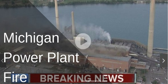 Michigan power plant fire