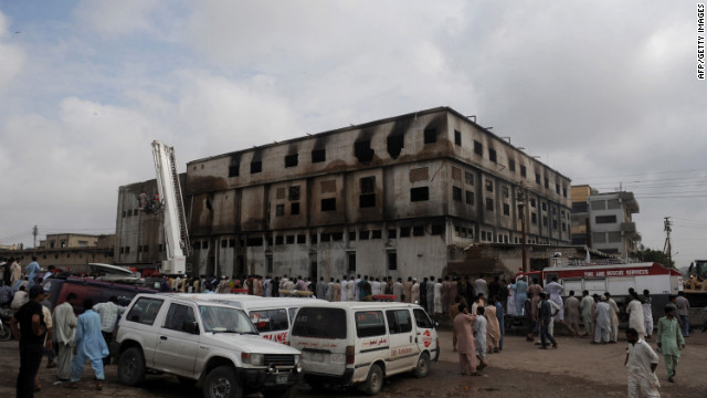 Police in Karachi filed a murder case Wednesday against the owners of a garment factory where a fire killed at least 258 people in the country's worst ever industrial disaster, officers said.