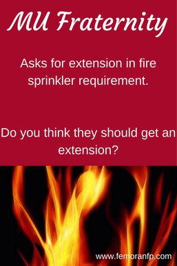 MU Fraternity Asks for Fire Sprinkler Extension | F.E. Moran Fire Protection