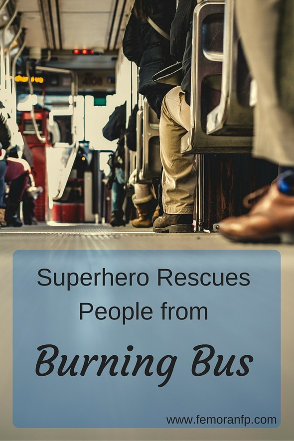 Superhero Rescues People from Burning Bus | F.E. Moran Fire Protection