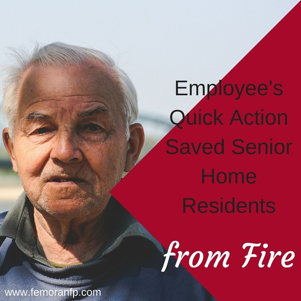 Employee's Quick Action Saves Senior Home Residents | F.E. Moran Fire Protection