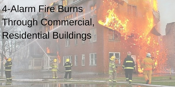4-Alarm Fire Burns Through Commercial, Residential Building | F.E. Moran Fire Protection