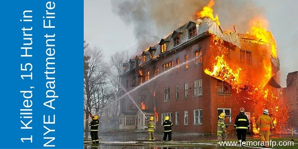 1 Killed, 15 Hurt in NYE Apartment Fire
