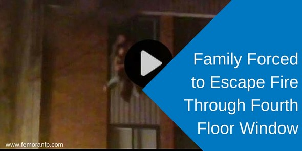 Family Forced to Evacuate Apartment through Fourth Floor Window