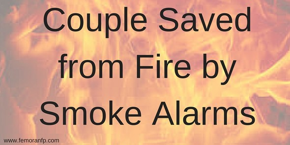 Couple Saved from Fire by Smoke Alarms | F.E. Moran Fire Protection