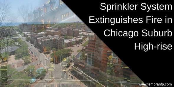 Sprinkler system retrofit in Chicago area high-rise
