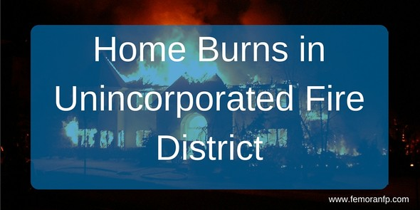Home Burns in Unincorporated Boise
