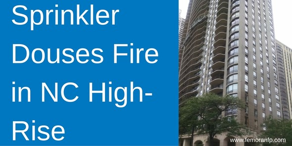 Sprinkler Douses Fire in NC High-rise