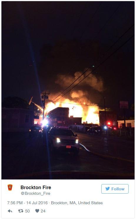 Twitter, warehouse fire