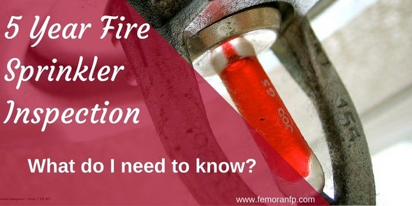 5 Year Fire Sprinkler Inspection