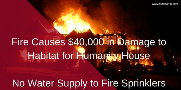 Fire Causes $40,000 in Damage when fire sprinklers have no water supply
