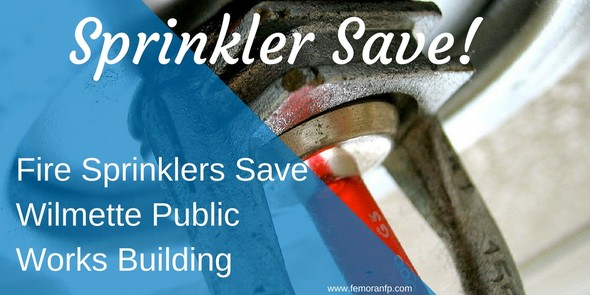 fire sprinklers save garage