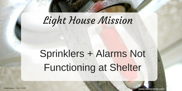 fire sprinklers and alarms shut down