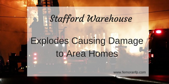 stafford warehouse fire