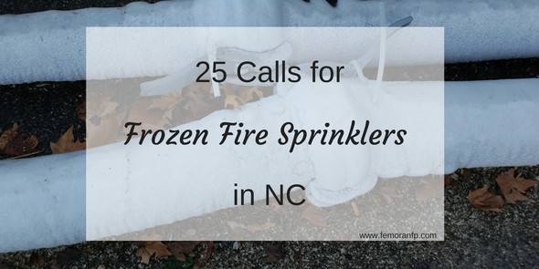 frozen fire sprinklers