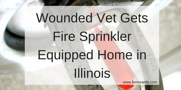 wounded vet gets fire sprinkler home