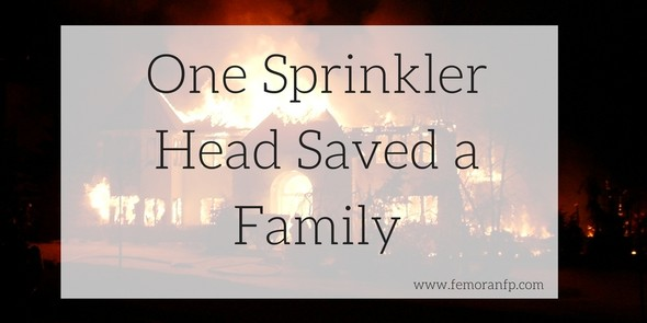One Sprinkler Head Saves Family