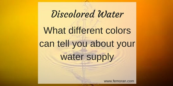 discolored water and your water supply