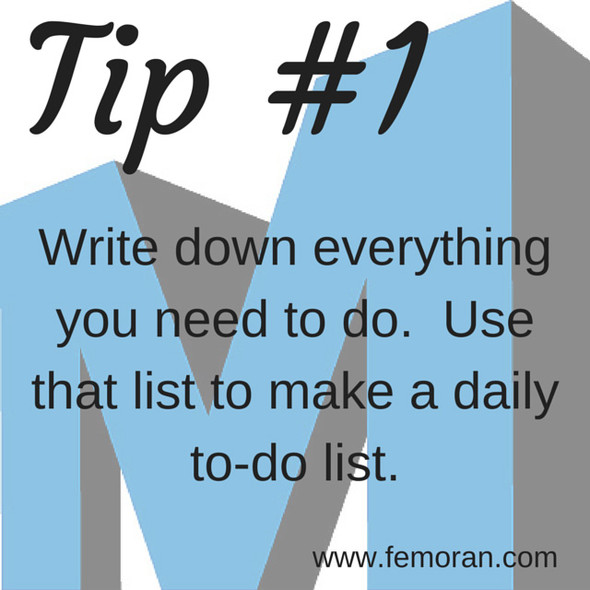 Write a to-do List | F.E. Moran