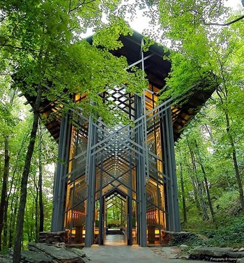 Cool chapel in Arkansas.  Architecture based on Frank Lloyd Wright.  | The Moran Group