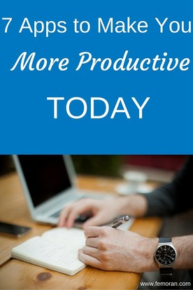 7 Apps to Make You More Productive Today | The Moran Group | Keywords:  management, project manager, productive, construction