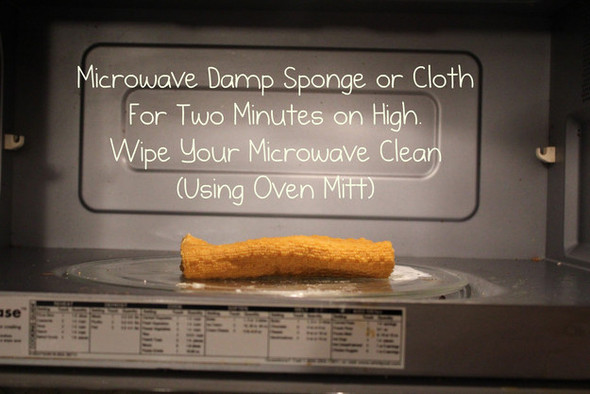 Clean a microwave by microwaving a sponge | The Moran Group