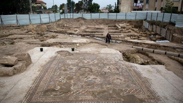 Israel mosaic discovered at construction site