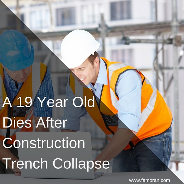 A 19 Year Old Dies After Construction Trench Collapse