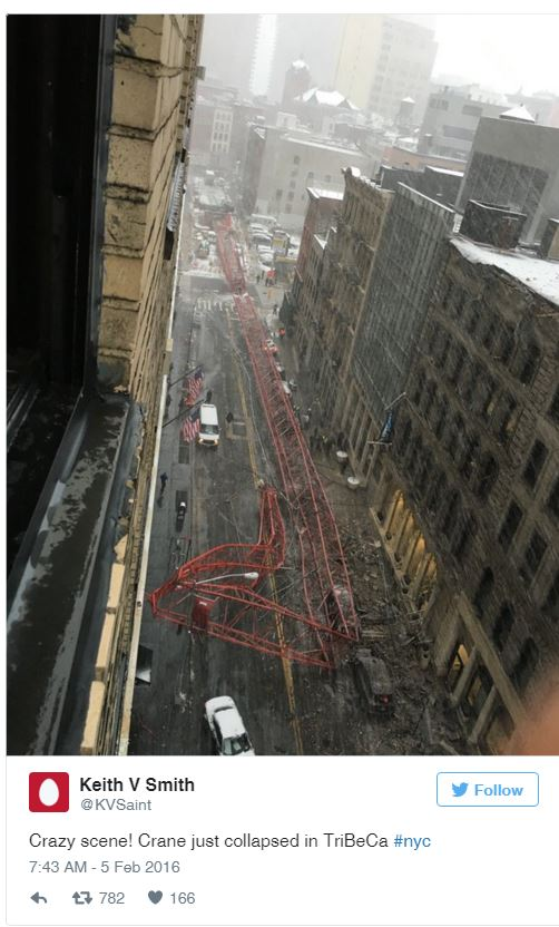 Crane Collapse in New York