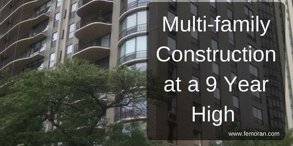 Multi-family Construction at a 9 Year High