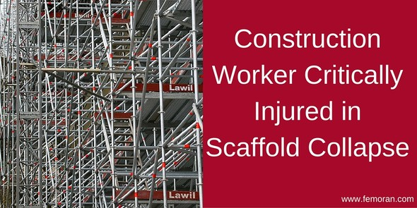 Construction Worker Injured in Scaffold Collapse