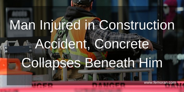 construction worker injured in construction accident