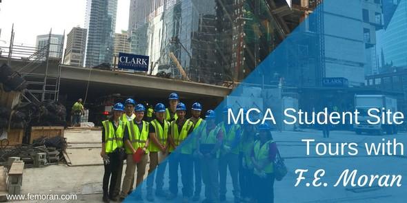 MCA Student construction site tour