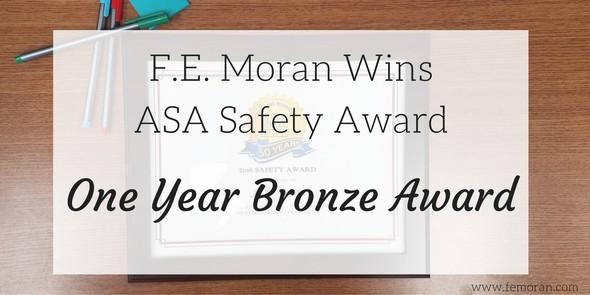 F.E. Moran wins safety award