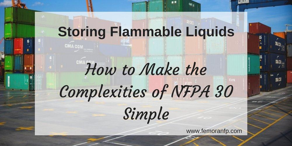 storing flammable liquids NFPA