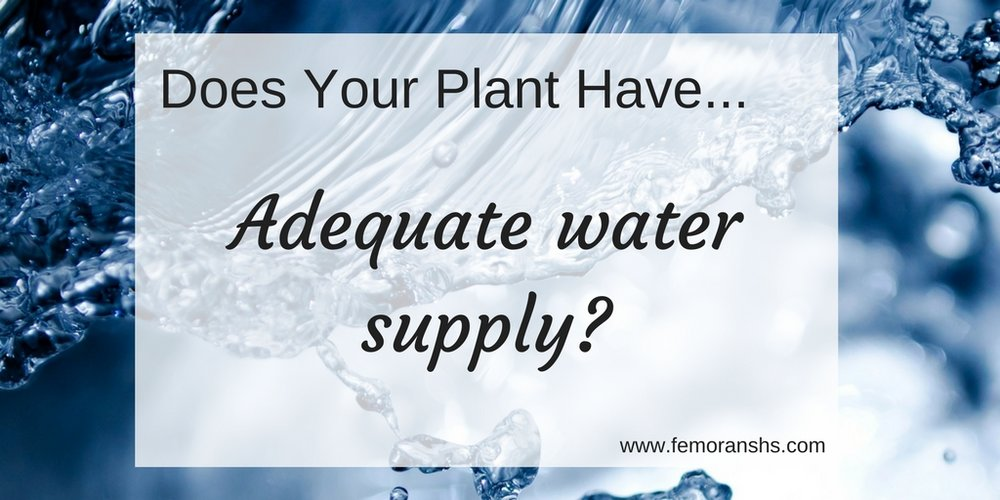 adequate water supply