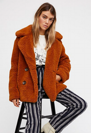 Free People Teddy Peacoat