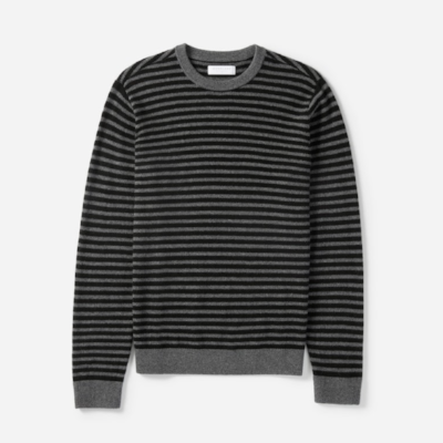 Everlane Cashmere Crew (black/charcoal)
