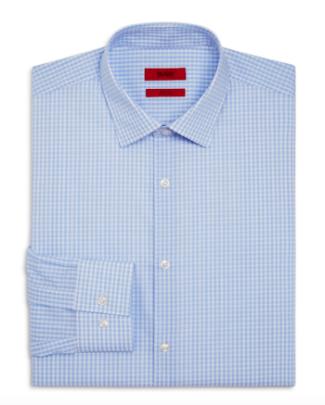 HUGO Jenno Check Slim Fit Shirt from Bloomingdales