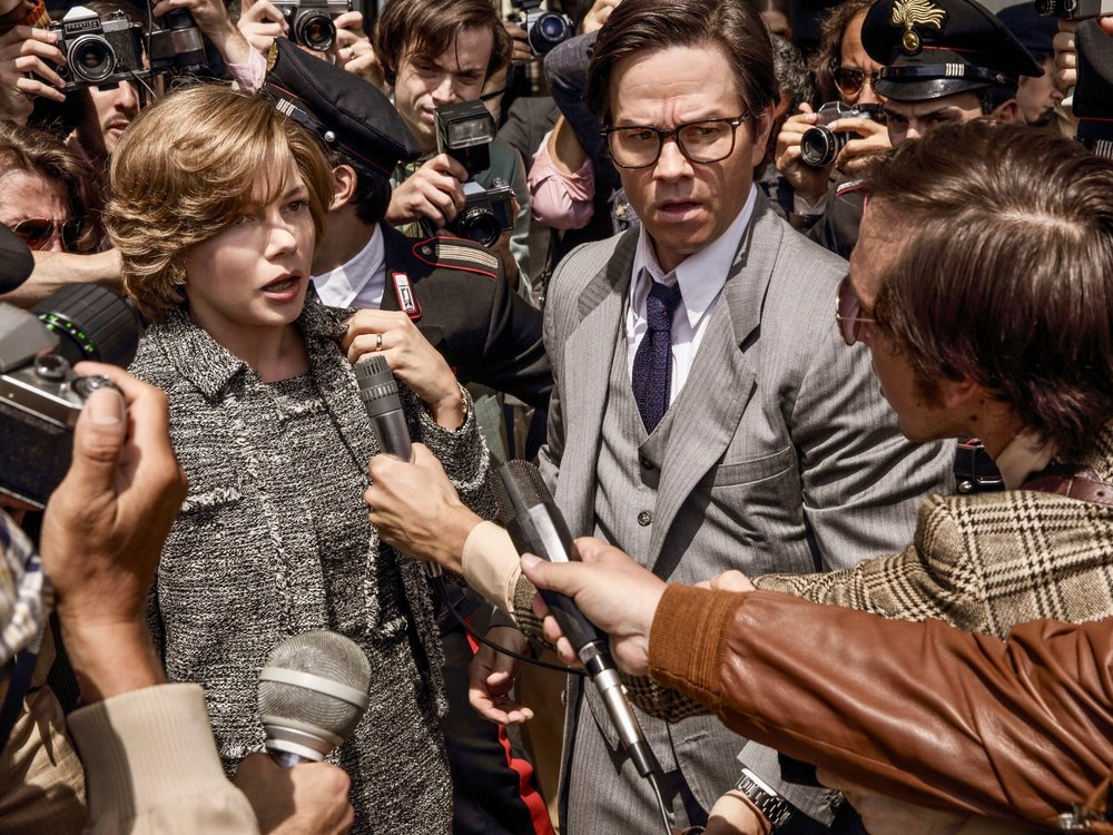 Michelle Williams and Mark Wahlberg in  All the Money in the World  (2017); Image from MovieStillsDB.com