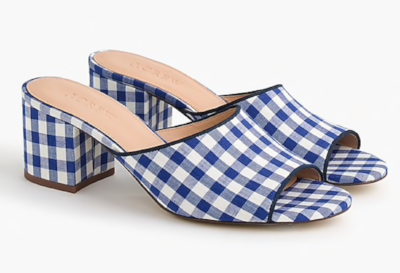 J. Crew All-Day Mules in Gingham