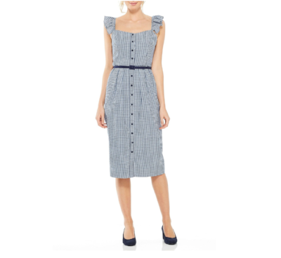 Carly Gingham Sheath Dress