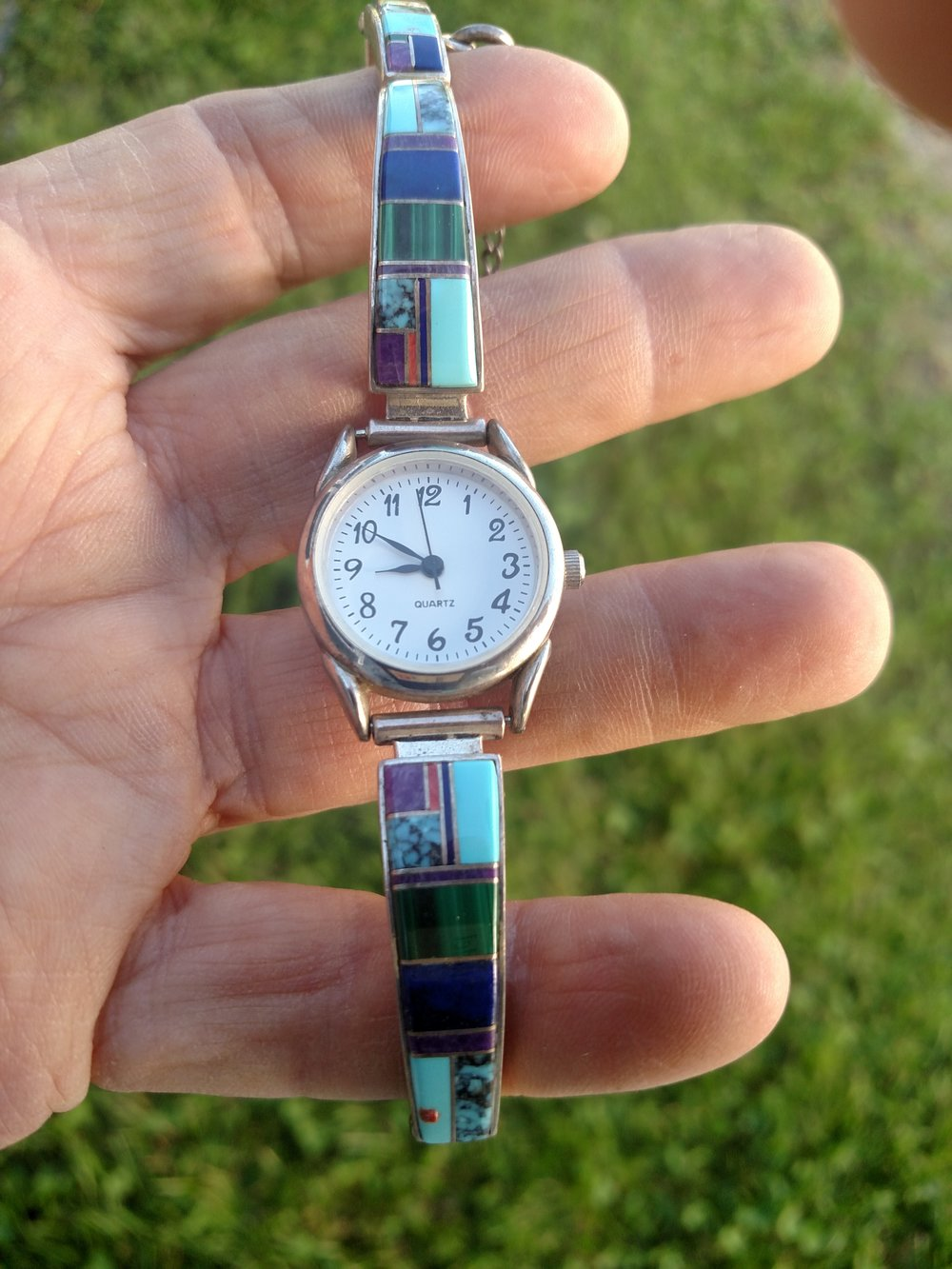 Vintage Zuni watch & band