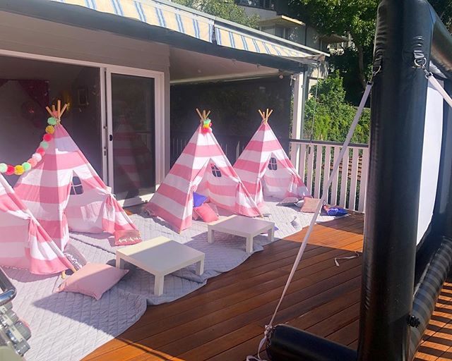 Something a little different for our younger cinema goers on this beautiful sun drenched terrace 🍿💖🍿💖🍿💖 cute teepees and loads of comfy  cushions