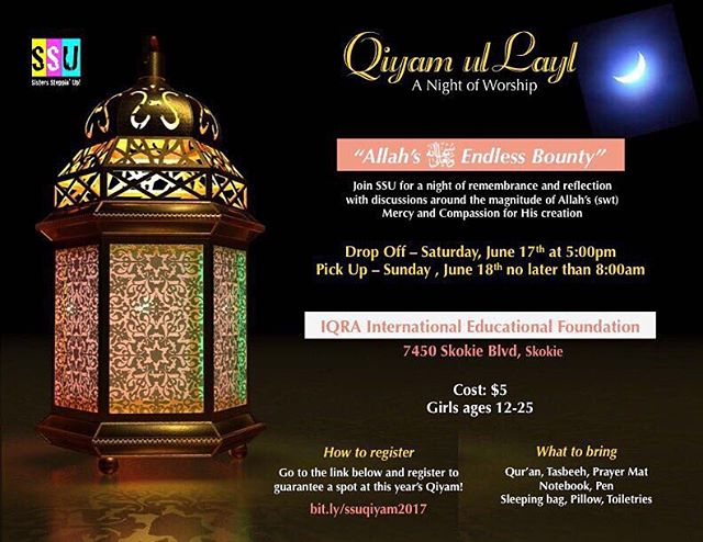Annual SSU Qiyam this Saturday!!! Registration link in our bio