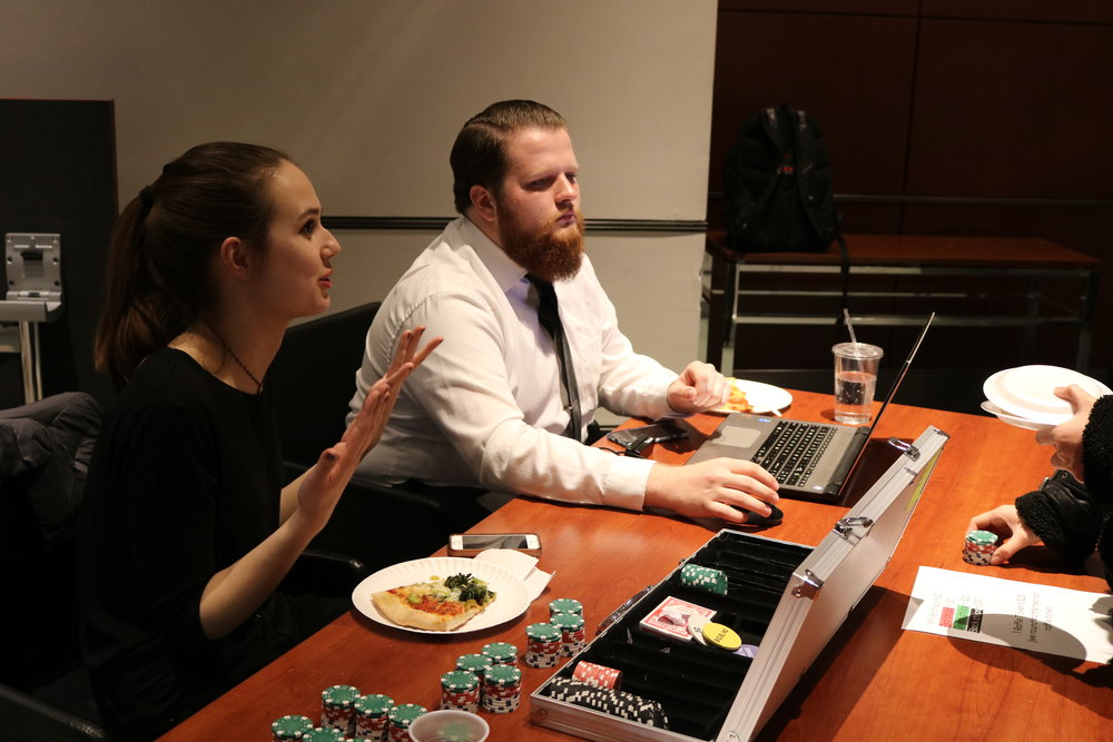Emma and Noah Monitoring Casino Night
