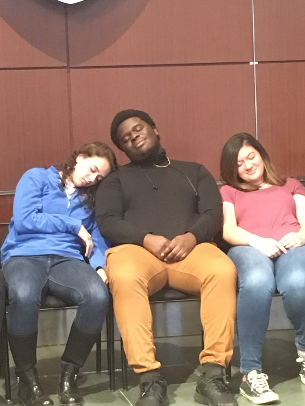 Students Asleep During Hypnosis