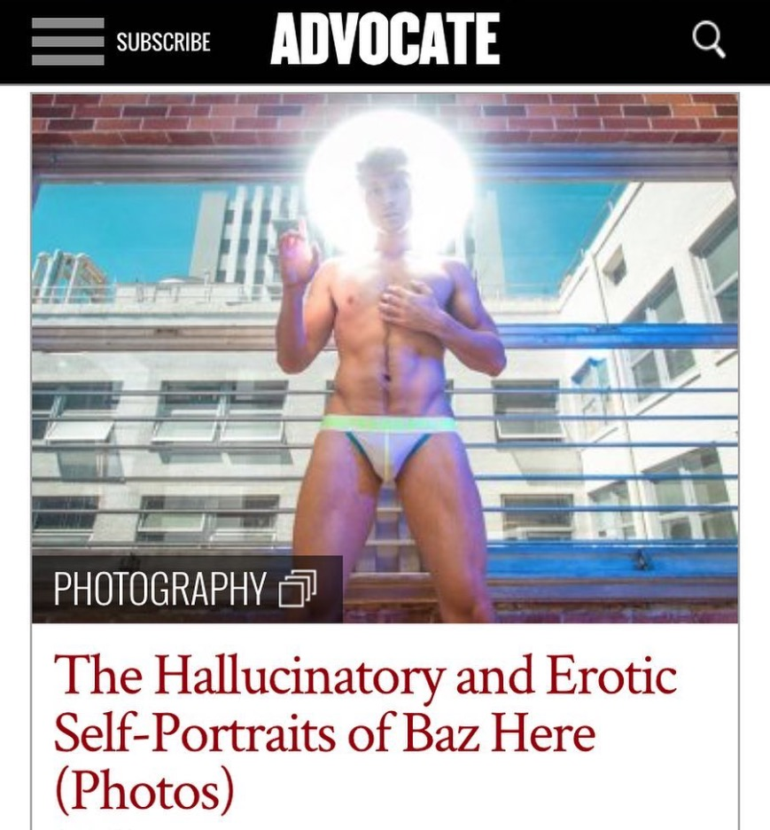 The Hallucinatory and Erotic Self-Portraits of Baz Here - ADVOCATE - The Temptation of Saint Baz featured on the Advocate